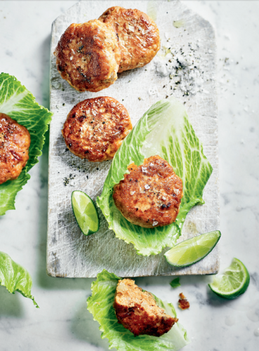 Cajun Salmon Burgers from The Little Green Spoon