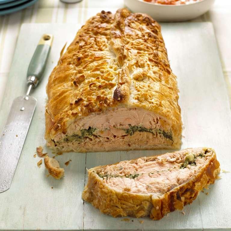 Salmon Salsa Verde en Croûte
