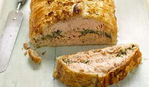 Salmon Salsa Verde en Croûte from Mary Berry and Lucy Young's book Cook Up a Feast