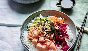 Nadiya Hussain's Black Pepper Poke Salmon Bowl Recipe | BBC Time to Eat