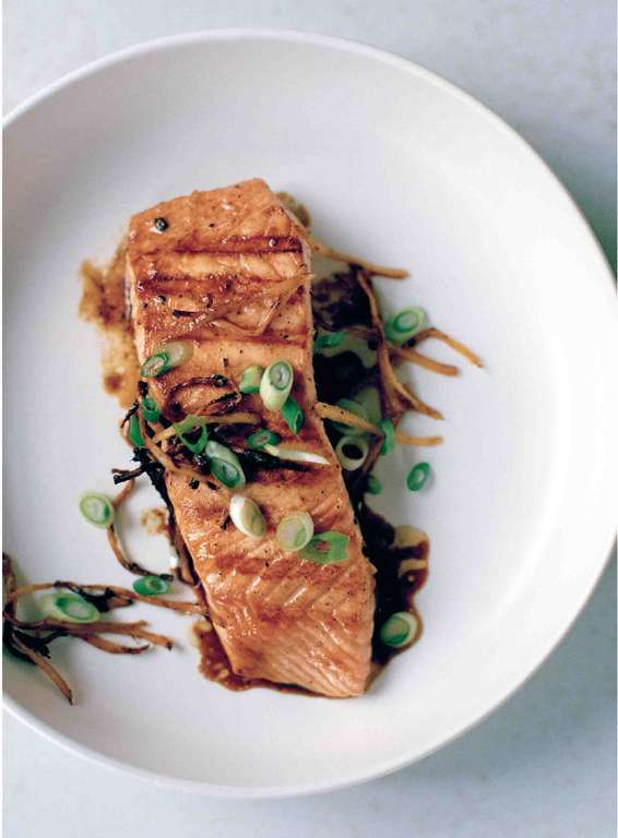 Chargrilled Salmon with Ginger, Black Pepper and Fish Sauce