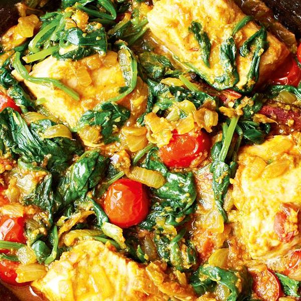 Salmon And Spinach Curry The Happy Foodie