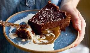 Chocolate and Salted Caramel Tart Recipe | Dinner Party Dessert