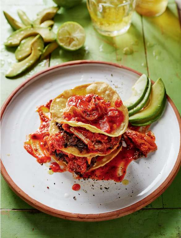 Sardines in Tortillas with Spicy Tomato Sauce