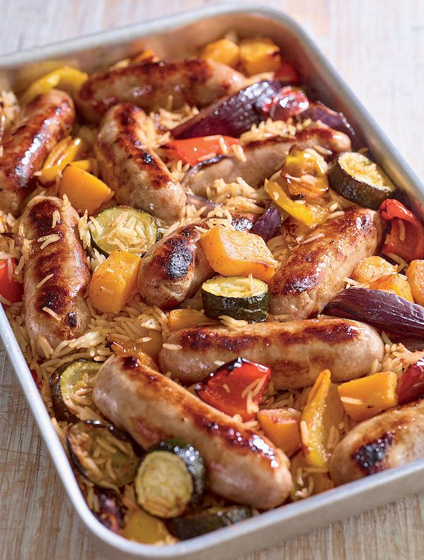 sausage one tray oven recipe