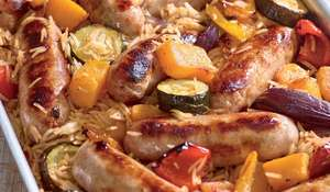 Sausage and Roasted Vegetable Pilaf Recipe