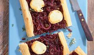 Caramelised Onion & Goats Cheese Tart Recipe | Easy Vegetarian Starter