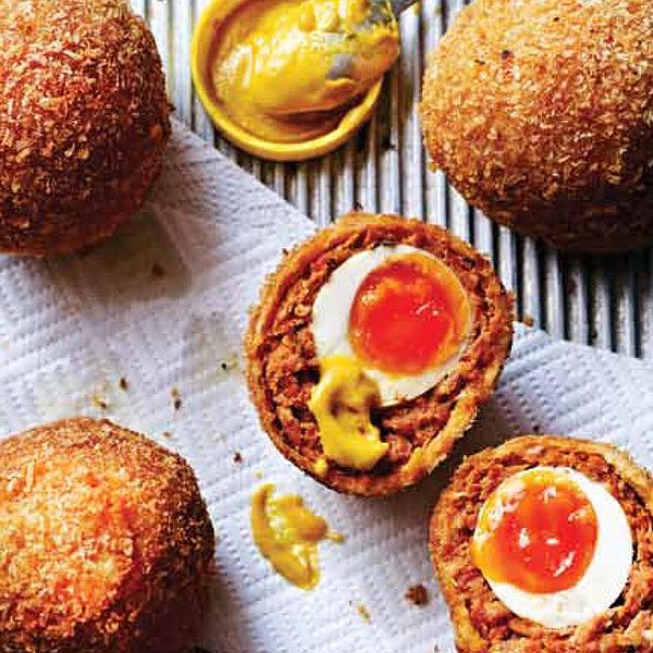 Scorching chorizo scotch eggs the happy foodie an easy to follow chorizo scotch egg recipe from dean edwards these awesome homemade scotch eggs combine smoky chorizo and pork with fresh thyme leaves forumfinder Images