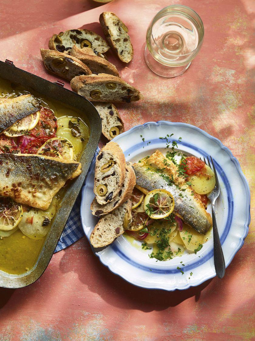 Baked Mediterranean Seabass | Ainsley Harriott