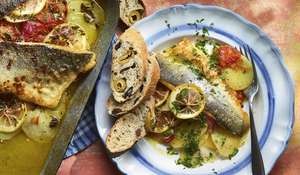 Seabass & Potato Traybake | Quick Summer Dinner