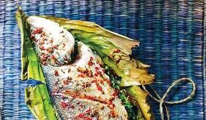 Sea Bass with Coriander and Chilli