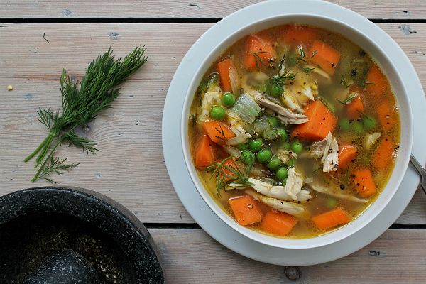 Melissa Helmsley's Shredded Chicken, Carrot and Dill Soup Recipe