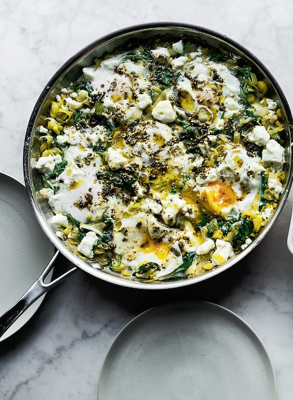 10 ultimate vegetarian Ottolenghi recipes braised eggs leeks simple