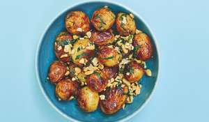 Rukmini Iyer Simple Barbecued New Potatoes with Tarragon, Peanut and Chipotle| Saturday Kitchen BBC1