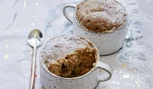 Six-Minute Mince Pie Mug Cake | Microwave Christmas Cake Recipe