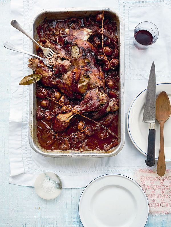 Alternatives to Christmas Turkey slow cooked lamb shoulder with fresh dates taverna georgina hayden