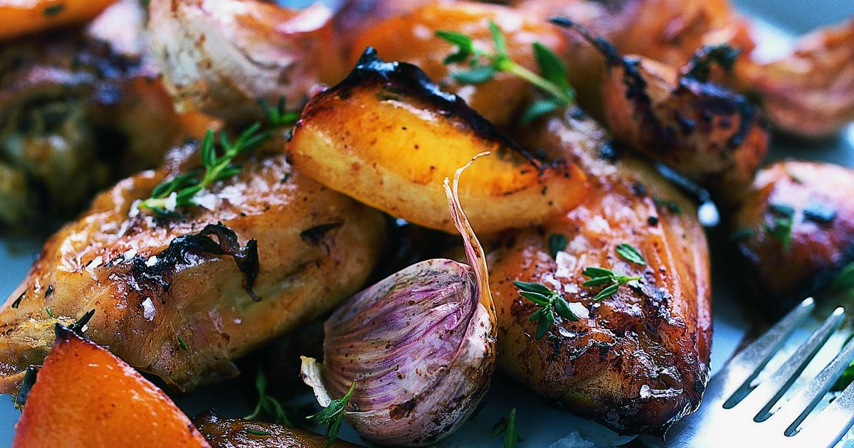 Slow-Roasted Garlic and Lemon Chicken - The Happy Foodie