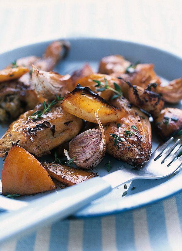 easy nigella chicken recipes slow roasted chicken with lemon and garlic nigella summer