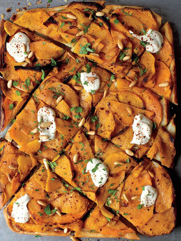 Winter Squash Flatbread With Hummus And Za Atar