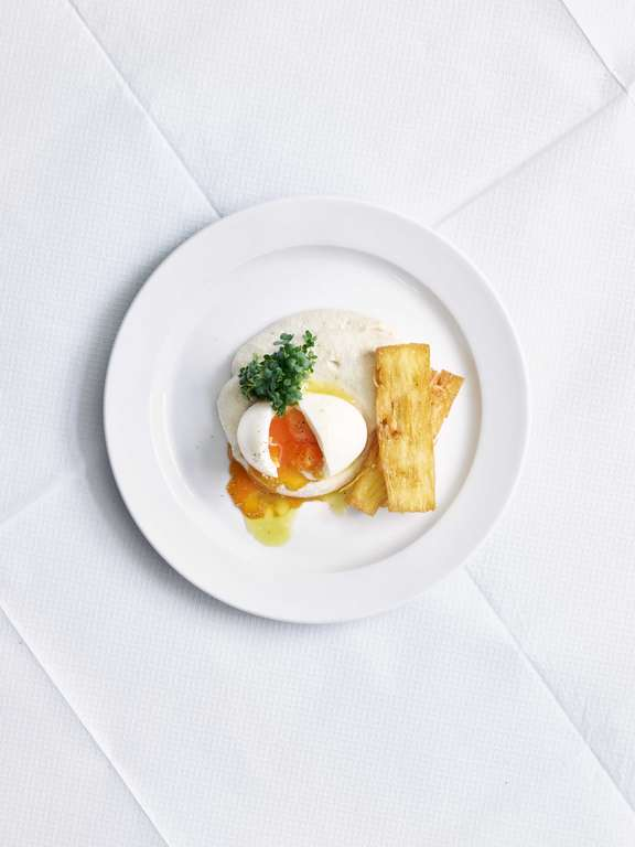 Smoked Cod's Roe, Egg and Potato Cake