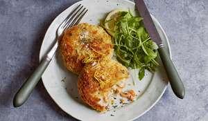 Smoked Salmon and Horseradish Fish Cakes with Garlic and Lime Mayo Recipe