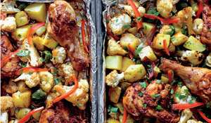 Smoky Sheet Pan Chicken with Cauliflower