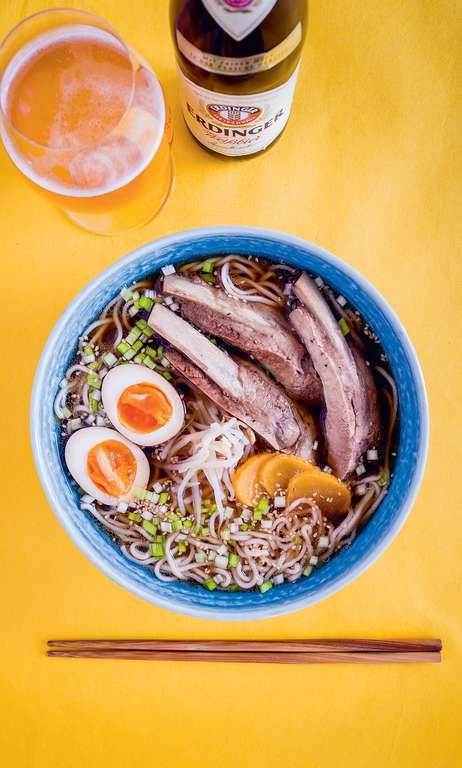 Soki Soba (Okinawan Pork Rib Ramen with a Light Dashi Pork Broth)