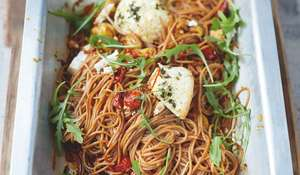 Spelt Spaghetti Vine Tomatoes and Baked Ricotta - Jamie Oliver's Everyday Super Food