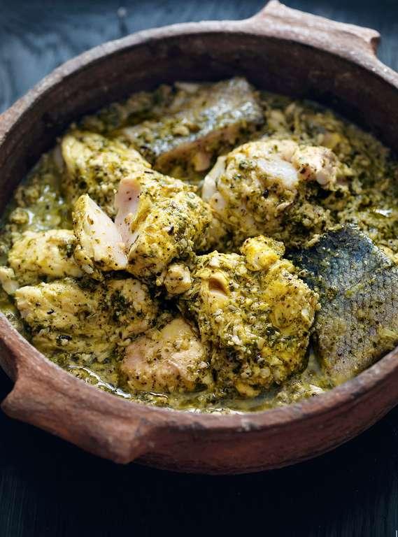 Fresh Green Fish Curry