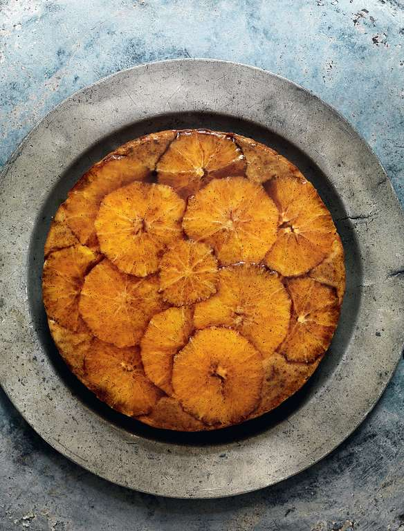 Polenta Cake with Clove and Orange Caramel