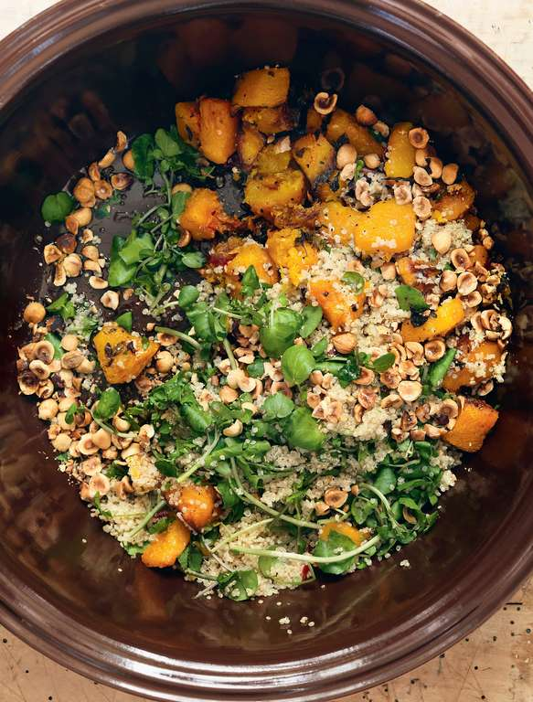 Squash, Cinnamon, Hazelnut and Quinoa Salad