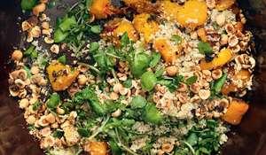 Squash, Cinnamon, Hazelnut and Quinoa Salad