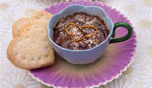 Spiced Chocolate Mousse with Shortbread Hearts
