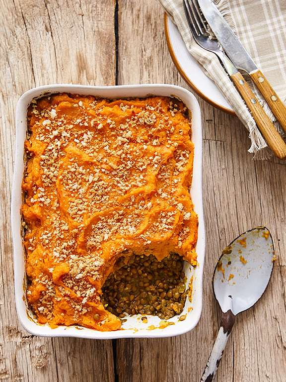 Spiced Sweet Potato Shepherd's Pie with Cumin and Turmeric