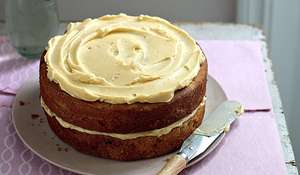 Apple Cake with Rum Buttercream