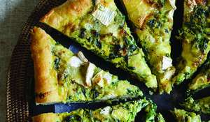 Watercress and Brie Flamiche