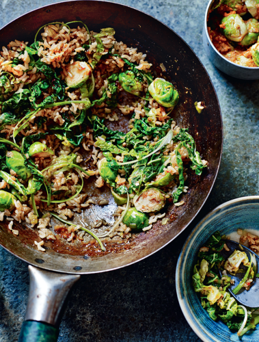 Korean Brown Rice and Brussels Sprouts from The Sunshine Diet