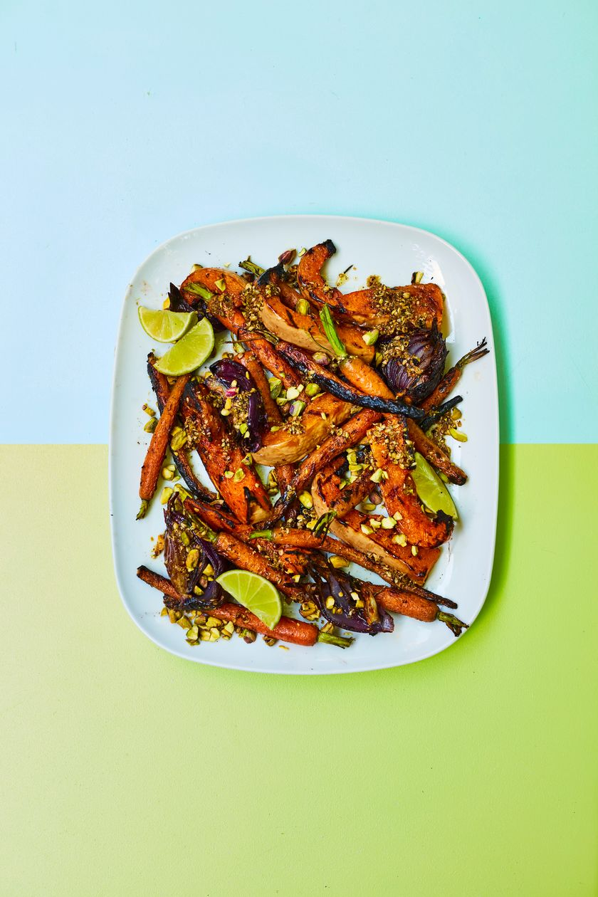 Easy Vegetarian Barbecue Recipe | Grilled Squash & Carrots