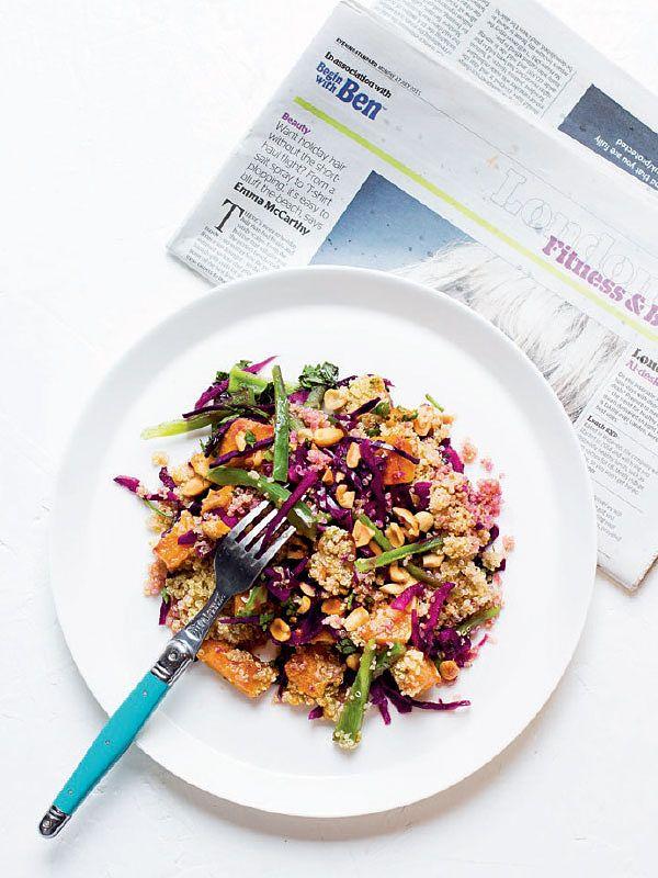 best vegetarian ingredients squash satay salad lunchbox salads