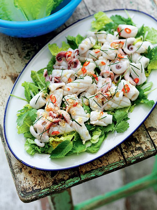 squid salad - Best Asian Salad Recipes for this Summer | Burmese, Thai, Japanese