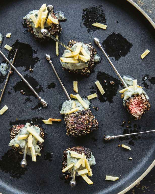 Steak Bites with Melty Blue Cheese Butter