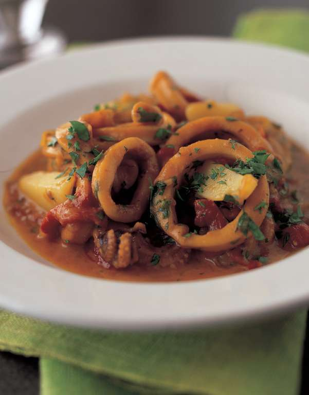 Squid and Potato Stew with Rouille