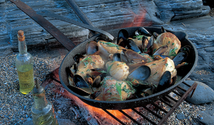 Sauted Chicken with Mussels, Tarragon and Chardonnay