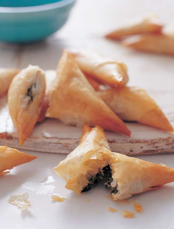 Spanakopita: Spinach, Mint and Feta Pastries