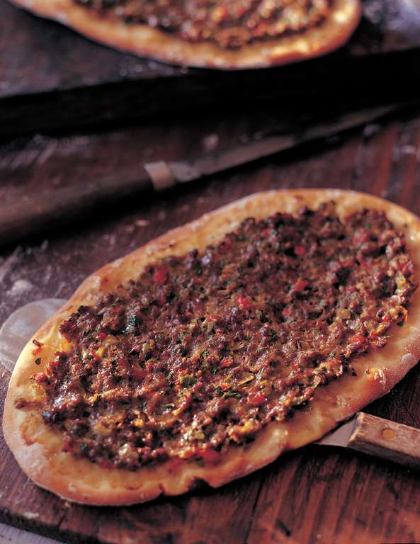 Lahmacun: Spicy Minced Lamb Flatbreads