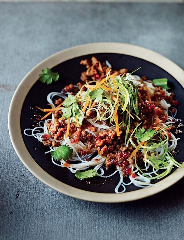 spring recipes Sweet Chilli Pork with Rice NoodlesfromMincespiration!by Dean Edwards