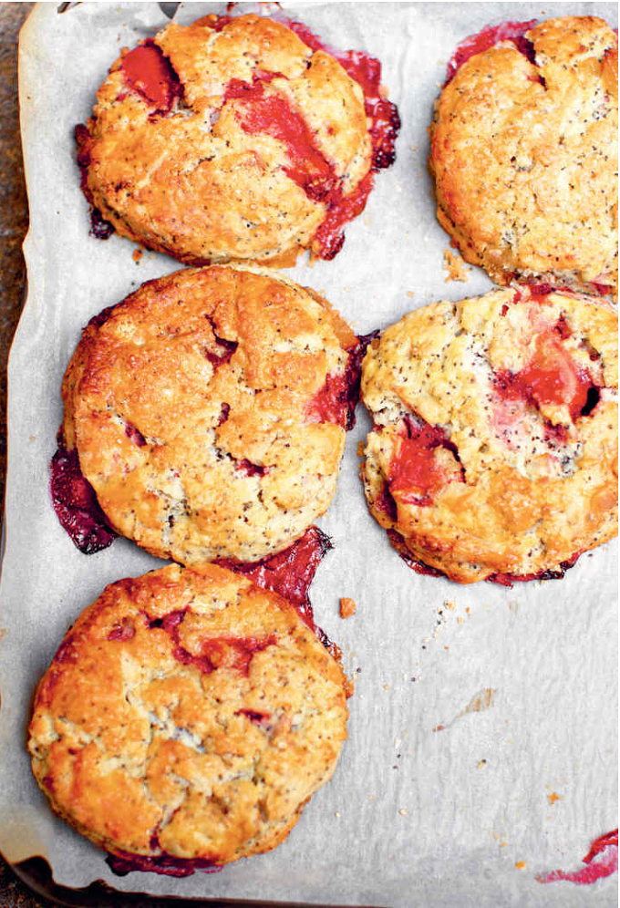Seasonal summer bakes and desserts from The Violet Bakery Cookbook - raspberry friands