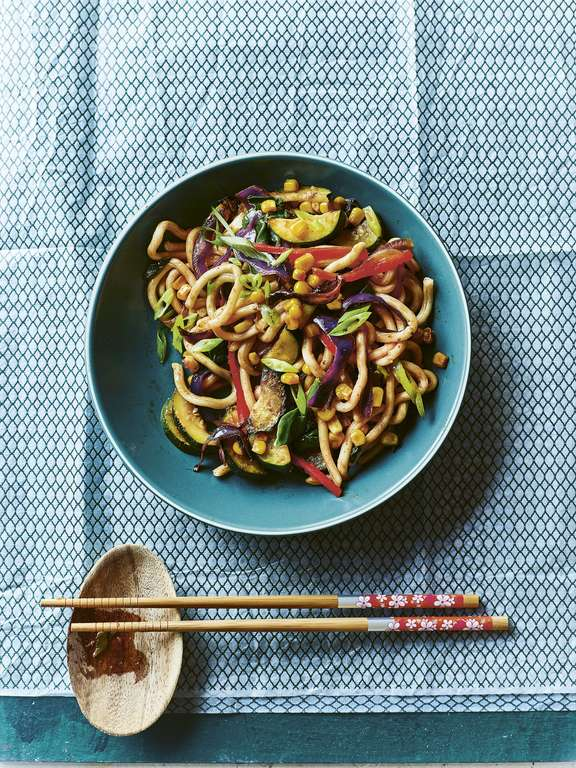 Summer Vegetable Udon Noodles