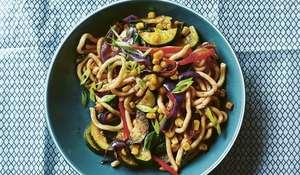 Summer Vegetable Udon Noodles | Vegan Recipes