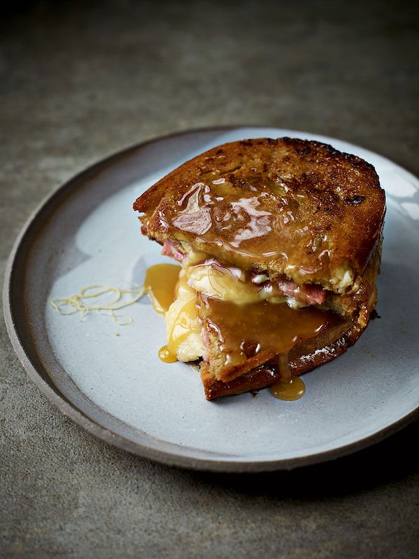recipes to cure a hangover filthy dirty ham cheese toastie the sunday brunch cookbook